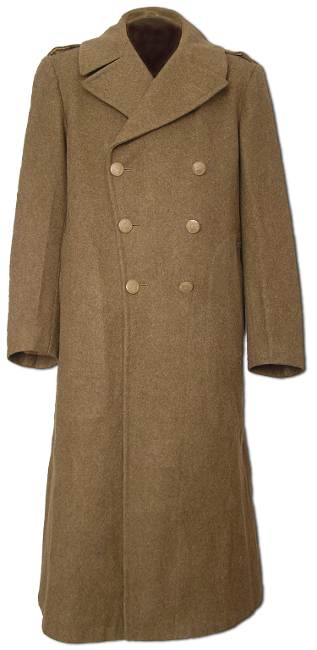32 Ounce Roll Collar Olive Drab Melton Wool Overcoat ...