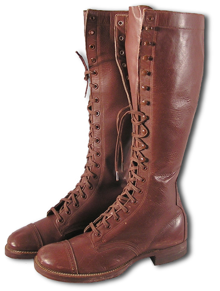 Enlisted Men S Laced Leather Boots Specification Qmc 9