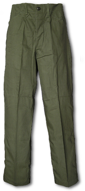U.S. Navy N-3 Utility Trousers front view.