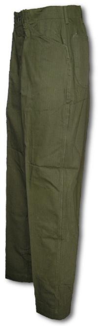U.S. Navy N-3 Utility Trousers side view.