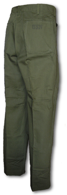 U.S. Navy N-3 Utility Trousers back view.