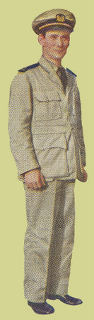 Officer's Khaki Work Uniform